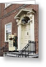 Historic City Tavern Greeting Card