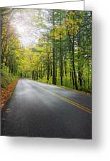 Historic Columbia River Highway In Fall Greeting Card