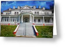 Historic Cone Manor Blue Ridge Parkway Ap Greeting Card