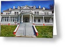 Historic Cone Manor Blue Ridge Parkway Greeting Card