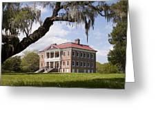 Historic Drayton Hall In Charleston South Carolina Greeting Card