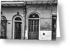 Historic Entrances Bw Greeting Card