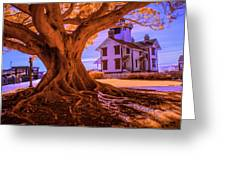 Historic Fermin Point Lighthouse In Infrared Greeting Card