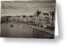 Historic Haarlem, Netherlands Bw Sephia Greeting Card