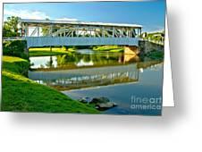 Historic Halls Mill Bridge Reflections Greeting Card