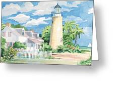 Historic Key West Lighthouse Greeting Card