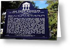 Historic Landmark Church Sign Greeting Card