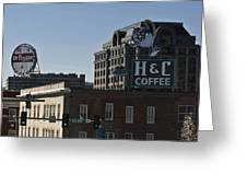 Historic Landmark Signs Roanoke Virginia Greeting Card