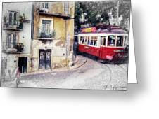 Historic Lisbon Tram Greeting Card