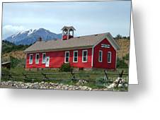 Historic Maysville School In Colorado Greeting Card