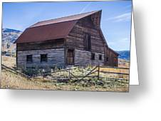 Historic More Barn Greeting Card