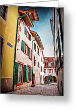 Historic Old Town Basel Switzerland  Greeting Card