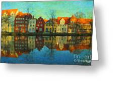 Historic Old Town Lubeck Greeting Card