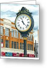 Historic Olde Walkerville Clock Greeting Card