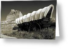 Historic Oregon Trail - Vintage Photo Art Print Greeting Card