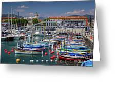 Historic Port Of Nice, France Greeting Card