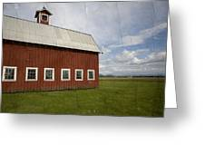 Historic Red Barn Greeting Card by Bonnie Bruno