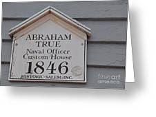 Historic Salem Naval Officer Greeting Card
