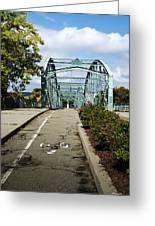 Historic South Washington St. Bridge Binghamton Ny Greeting Card