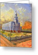 Historic St. George Temple Greeting Card