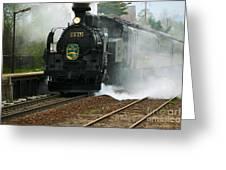 Historic Steam Train Greeting Card