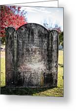 Historic Stone - Quaker Cemetery Greeting Card