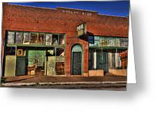 Historic Storefront In Bisbee Greeting Card