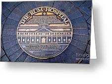 Historic Sydney Hospital - Plaque On Sidewalk Greeting Card
