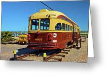Historic Trolley Greeting Card