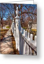 Historic Vermont Fence Greeting Card
