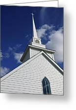 Historic White Church Greeting Card