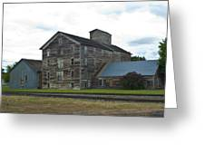Historical Barron Wheat Flour Mill In Oakesdale Wa Greeting Card