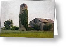 Historical Farm Scene Greeting Card