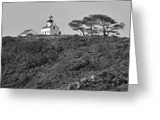 Historical Lighthouse- Point Loma Greeting Card