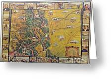 Historical Map Of Early Colorado Greeting Card