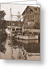Historical Waterfront  Greeting Card