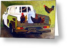 Hitchin' A Ride To Town Greeting Card