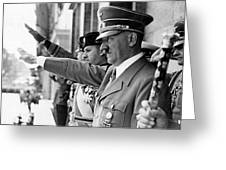 Hitler And Italian Count Ciano Chancellory Berlin 1939 Greeting Card