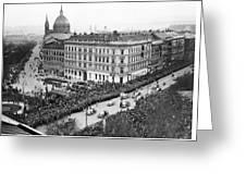 Hitler Enters Vienna Greeting Card