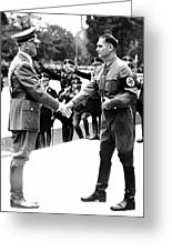 Hitler Shaking Hands With Rudolf Hess Circa 1935 Greeting Card