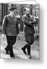 Hitler Strolling With Albert Speer Unknown Date Or Location Greeting Card
