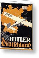 Hitler Uber Deutschland, Germany - Retro Travel Poster - Vintage Poster Greeting Card