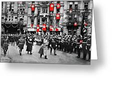 Hitler With Goering And Himmler Marching In Munich Germany C.1934-2016  Greeting Card