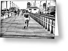Hitting The Boardwalk Greeting Card
