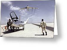 Hl-10 On Lakebed With B-52 Flyby Greeting Card by Artistic Panda