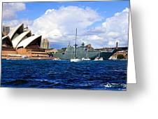 Hmas Adelaide Helps Sydney Celebrate Greeting Card
