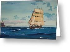 Hms Bounty On Lake Superior Greeting Card