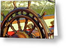 Hms Bounty Wheel Greeting Card