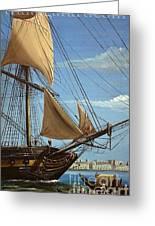 Hms Java  Under Way At Cairo 1798 Greeting Card