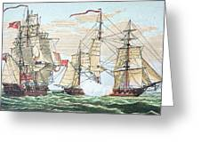 Hms Shannon Vs The American Chesapeake Greeting Card